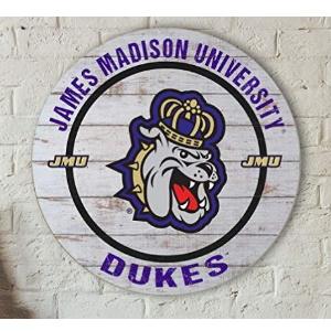 James Madison Dukes Helmet Weathered Circle