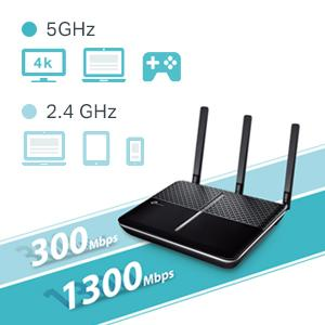 TP-LINK AC1600 Wireless Dual Band Gigabit VDSL/ADSL Modem Router - After  trying a Netgear brand router/modem and being disappointed due to the  device