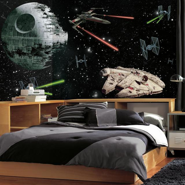RoomMates JL1399M Star Wars Vehicles X Large Chair Rail Prepasted