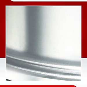 Prestige Induction Base Aluminium Pressure Cooker, 5 Litres, Silver
