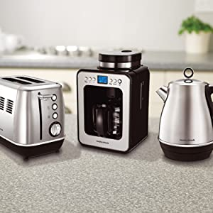Complete the Evoke Collection with grind and brew coffee machine