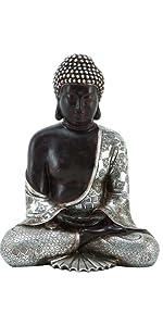 Deco 79 Mediating Resting Polystone Buddha