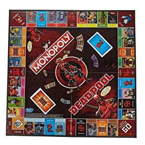 Amazon.com: Monopoly Game: Marvel Deadpool Edition: Toys ...
