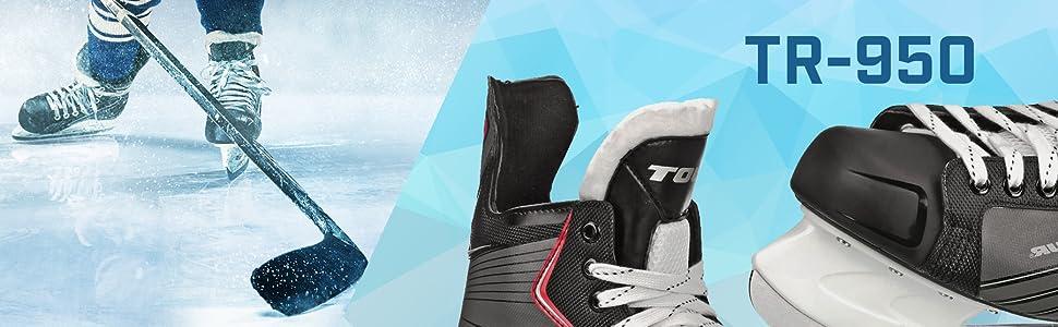 Black 10 Roller Derby XLT55 Tour Hockey Tr-950 SR Ice Hockey Skate