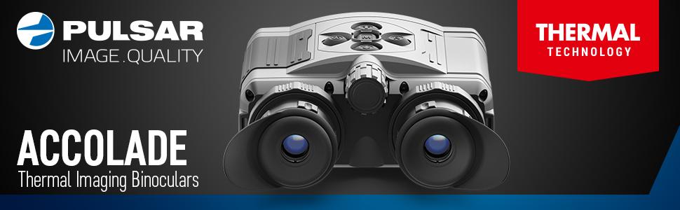 Pulsar Accolade XQ38 XP50  3.1-12.4x32 2.5-20x42 Thermal Binoculars LRF