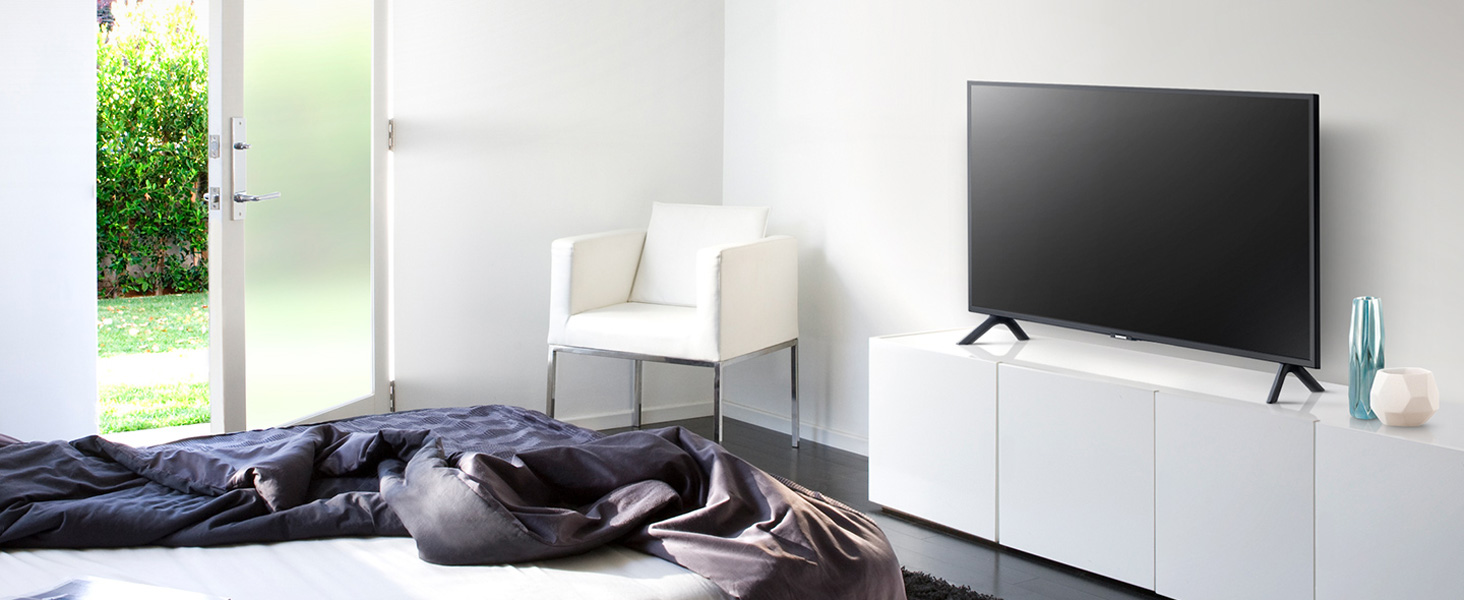 Modern and Sleek Samsung Q50R installed in Sophisticated Bedroom