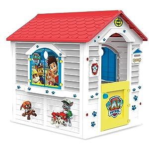 Chicos - Patrulla Canina Casita infantil de exterior, color blanca con tejado rojo (La Fábrica de Juguetes 89526): Amazon.es: Juguetes y juegos
