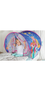 John Princess Tipi Tente de Jeu PJ Masks Lit /à baldaquin Enfant Multicolore 77109