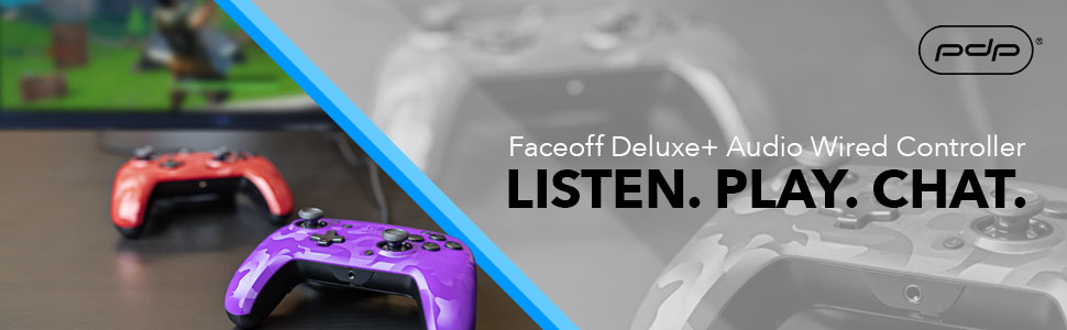 PDP Faceoff Deluxe Switch Controller with Audio