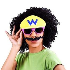 Costume Sunglasses Super Mario Yellow Wario Sun-Staches Party Favors UV400