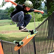 6'' Canadian and Bamboo Maple Deck Skateboard - Mini Cruiser Skateboard, Designed for Kids, Teens