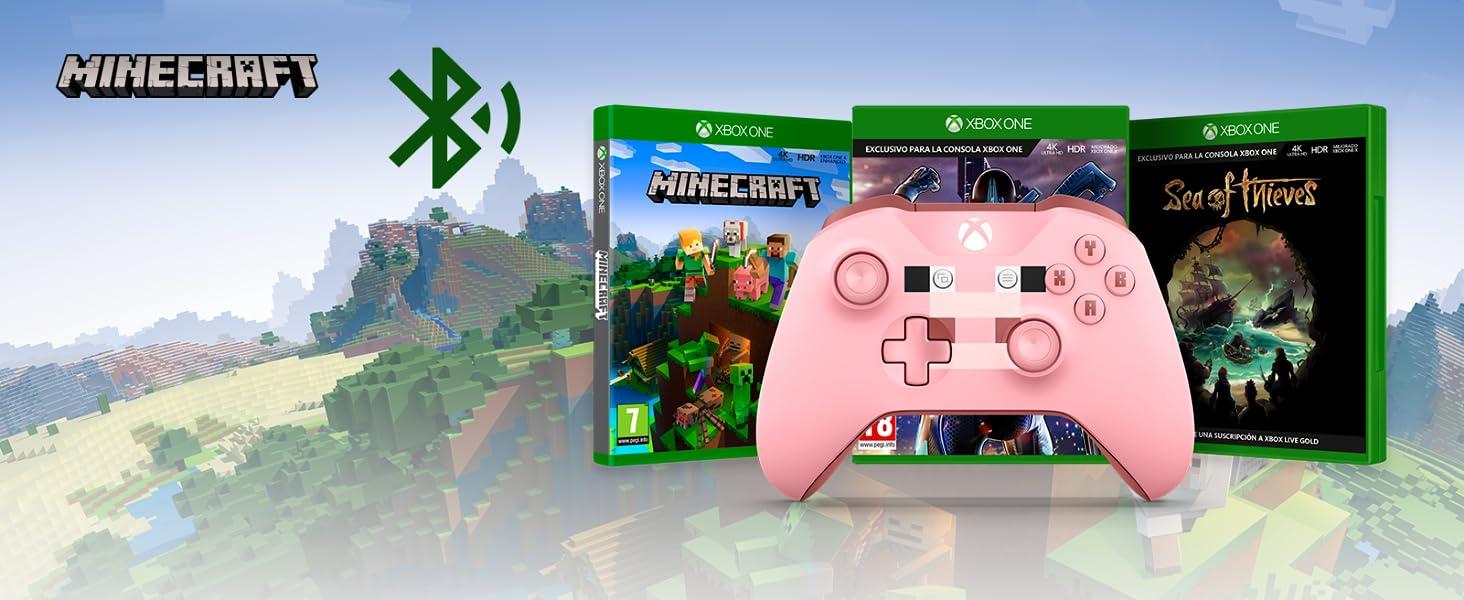Microsoft - Mando Inalámbrico: Edición Limitada Minecraft Pig ...