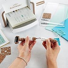 Spellbinders T-016 New n One Multi-Purpose Craft Tool White /& Bronze