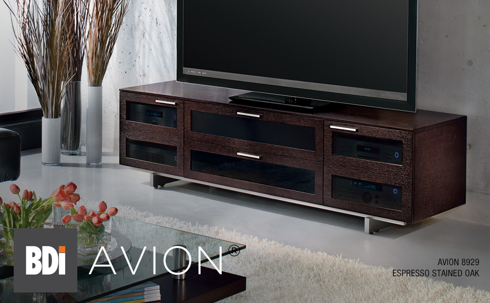 Avion 8927 Chocolate Stained Walnut TV Stand