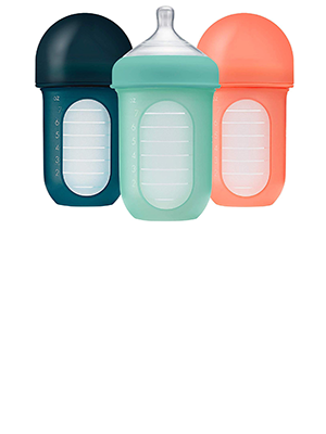 Boon Nursh Reusable Silicone Pouch Bottles - 8oz