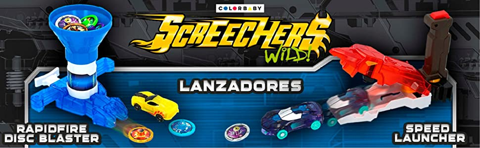 Screechers Wild - Speed Launcher - Lanza coches (Colorbaby ...