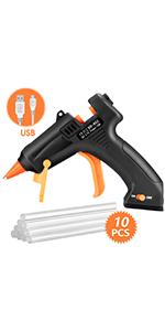 TOPELEK 2200mAh Cordless Hot Glue Gun