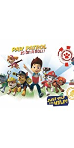 Paw Patrol Peel and Stick Giant Wall Decals, peel and stick wall decals