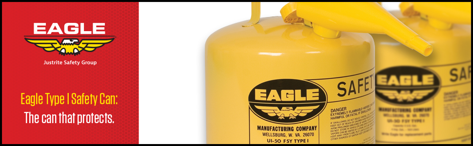 Eagle Type 1 safety can yellow