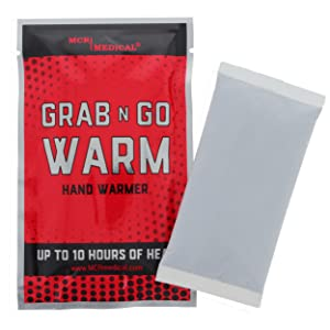 6 Pack Emergency Hand Warmers Grab N Go Warm Air Activated