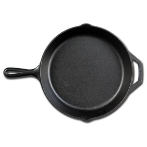 Lodge Cast Iron Skillet, Pre-Seasoned and Ready for Stove Top or Oven Use, 10.25