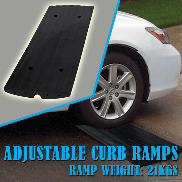 Scooter Ramps For Cars >> Amazon.com: Car Driveway Curb Ramp - Heavy Duty Rubber ...