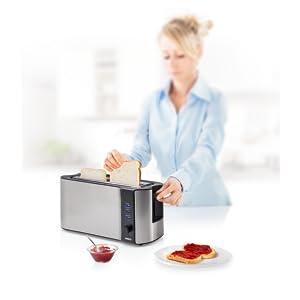 Con la tostadora con ranura extralarga Princess 142353, podrá hacer deliciosas tostadas calientes y crujientes en un instante.