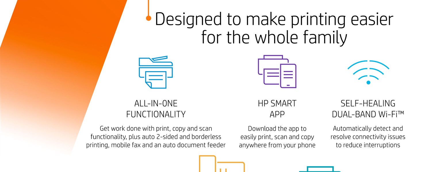 all in one printer duplex borderless mobile printing dual band wifi wireless fax adf