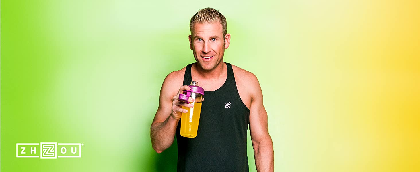Fit male with his keto drive in hand prior to starting an intense workout