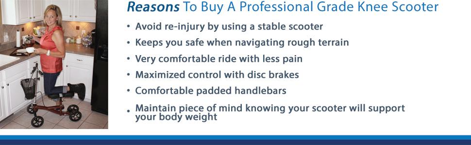 safe knee scooter