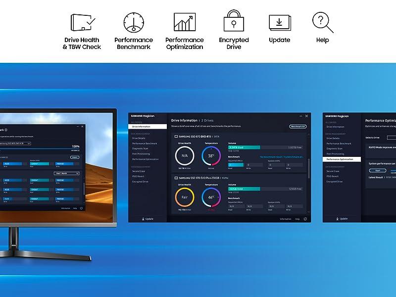 Samsung magician software managing SSD