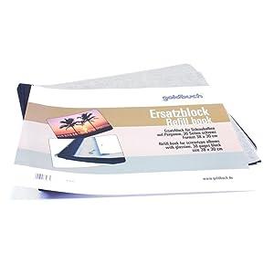30 wei/ße Seiten mit Pergamin-Trennbl/ättern Goldbuch Ersatzblock f/ür Schraubalbum 83078 Passend f/ür Alben mit einer Gr/ö/ße von 39 x 31 cm