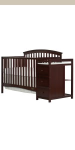 dream on me, cribs, full size, standard, 5 in 1 convertible, toddler bed, day bed, niko, changer