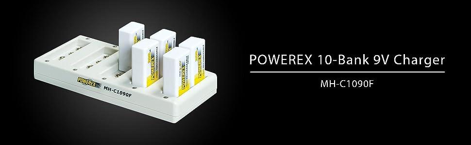 Amazon.com: MAHA Powerex mh-c1090 F Pro Diez Banco 9 V Rapid ...