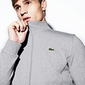 Lacoste Sport Full Zip Brushed Fleece Hooded Sweatshirt Sweat Jacket Men 6//XL US