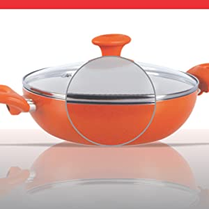 Prestige Ceramic Kadai with Lid