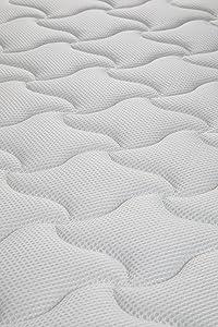 Colchon con cálido tejido velour (polar) en cara de invierno y fresco tejido técnico 3D en verano