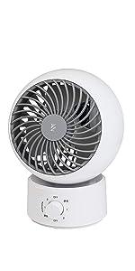 【Amazon.co.jp 限定】 [山善] 扇風機 サーキュレーター (換気/空気循環) 静音 左右 首振り 上下角度調節 風量3段階調節 15cm ホワイト×グレー AAS-KW15(WH)