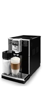 Caraffa Latte Integrata con Macine in Ceramica Filtro Aquaclean Argento//Nero Saeco Incanto HD8917//01 Macchina da Caff/è Automatica