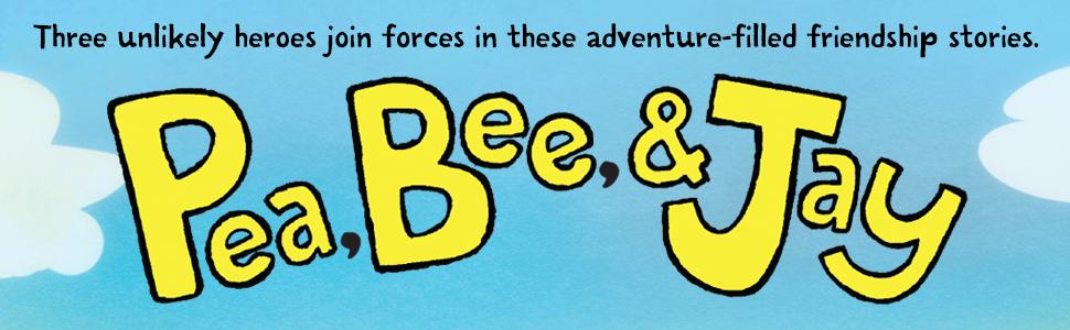 Pea, Bee, Jay, unlikely heroes, adventure, friendship, graphic novel
