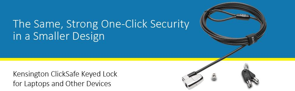 Kensington ClickSafe Keyed Lock for Laptops and Other Devices