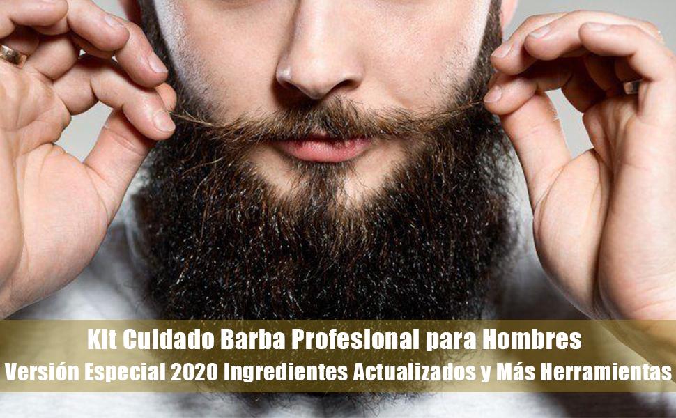 Kit Barba Cuidado Para Hombres, Set Herramientas de Aseo y Recorte ...