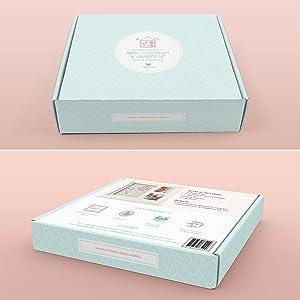 Amazon.com: fotovive bebé huella & Handprint marco de fotos ...