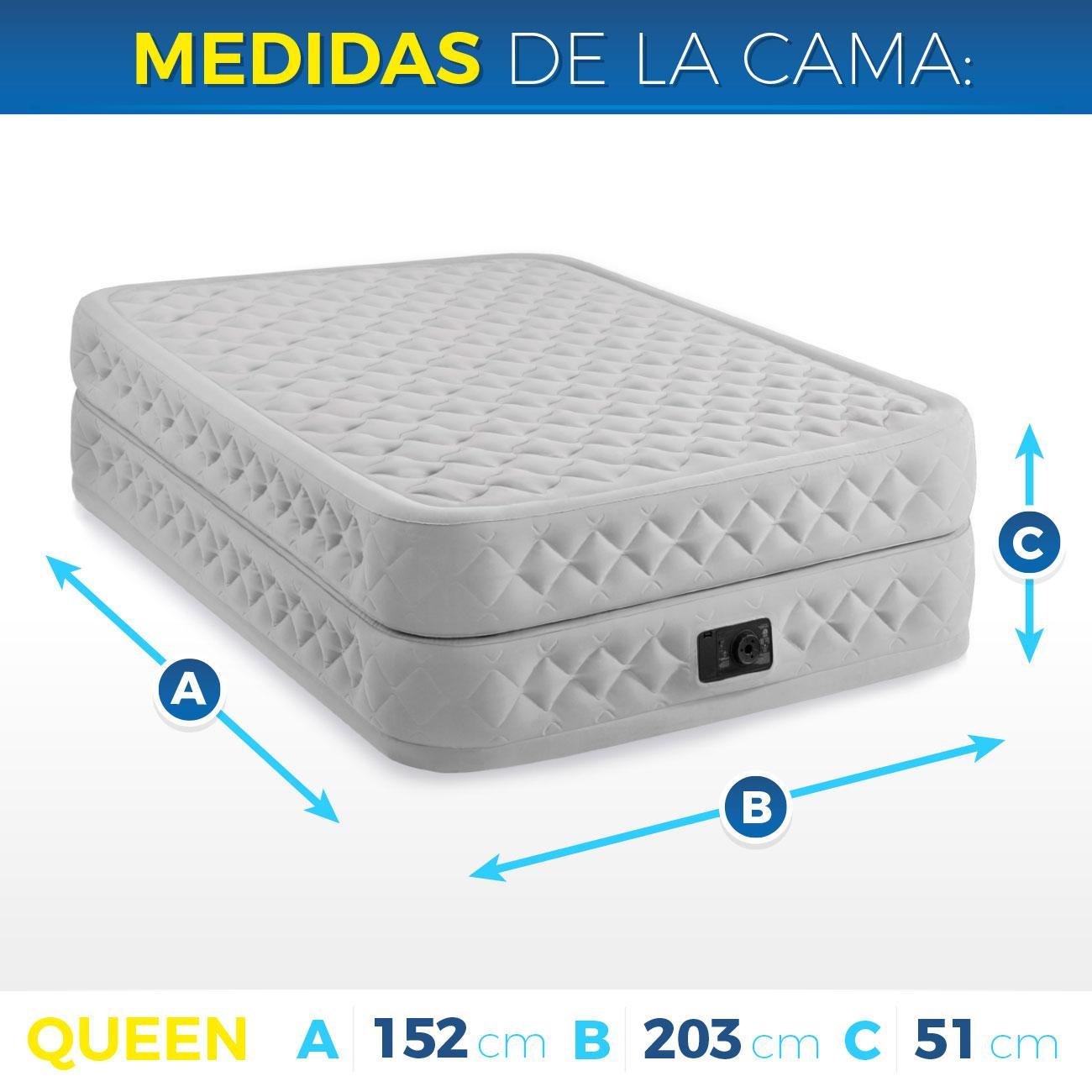 Intex 64464 - Colchón hinchable Dura-Beam Plus Supreme AirFlow 152 x 203 x 51 cm