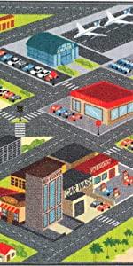 CITY ROAD CAR PLAY PUZZLE EVAD GIRLS DAYCARE PRESCHOOL FLOOR RUG EDUCA MAT FOR KIDS BOY ANTIOANL FUN