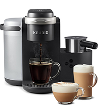 Keurig K-Cafe, K-cafe, kcafe, cappuccino, latte, coffee maker, coffeemaker, brewer, kcups, k-cup pod