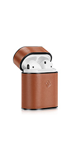 airpods leather case cover skin apple airpod 2 1 accessories