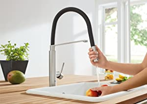 ... Grohe Essence Kitchen Faucet Grohe 31492000 Concetto Semi Pro Single  Handle Kitchen Faucet ...