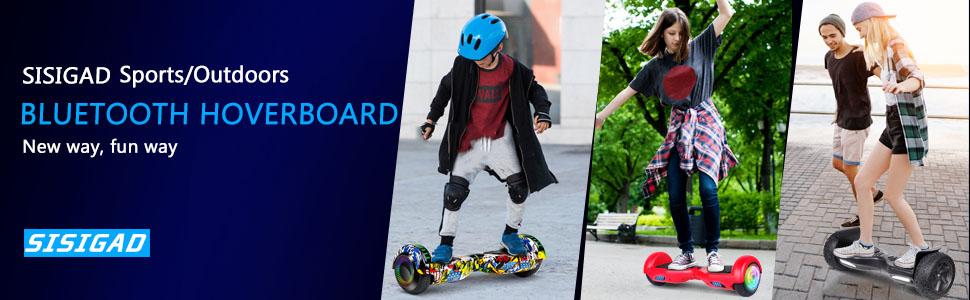 SISIGAD Hoverboard, Self Balancing Hoverboard, 6.5