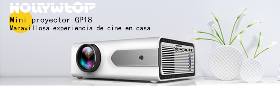 HOLLYWTOP Proyector Cine en Casa , Mini Video Proyector Portatil ...